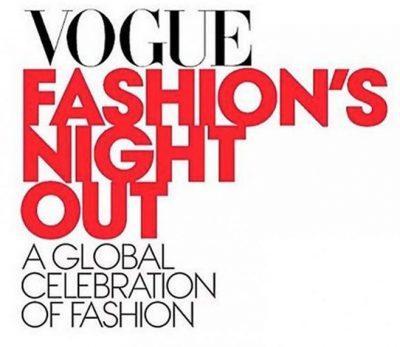 Press badge Vogue Fashion's Night Out designer Angelina Haole